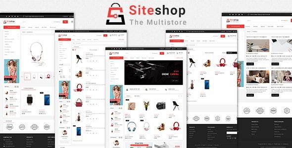 Siteshop 3.0.X Opencart MultiPurpose Responsive Theme - Shopping OpenCart
