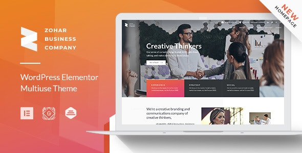Zohar | Business Consulting WordPress Theme for Elementor by GT3themes