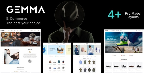 Gemma - Fashion Barber Shop HTML Template - Fashion Retail