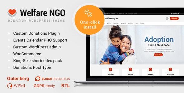 Welfare NGO - Nonprofit Organization Charity Theme - Charity Nonprofit
