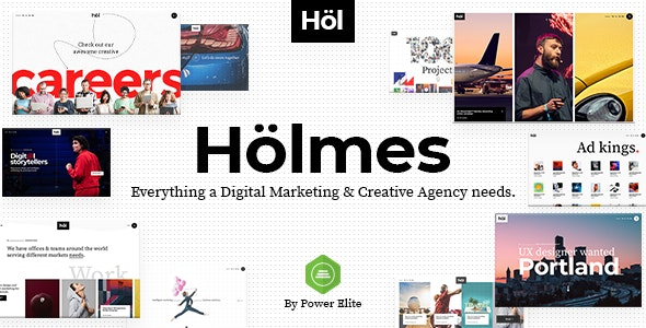 Holmes - Digital Agency Theme - Creative WordPress