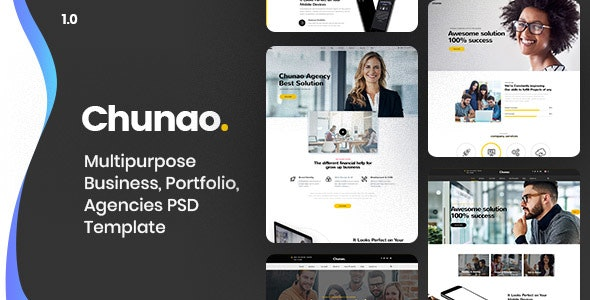 Chunao - Multipurpose Business PSD Template - Business Corporate