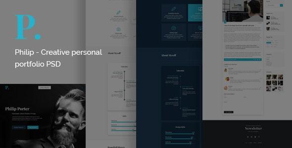 Philip - Creative Personal Portfolio PSD Template - Portfolio Creative