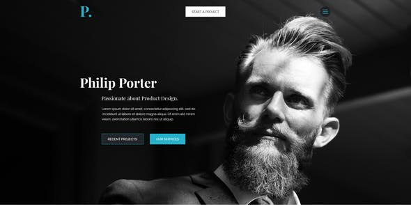 Philip - Creative Personal Portfolio PSD Template