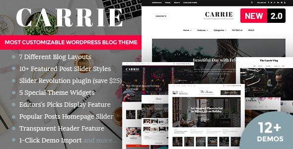 Carrie - Personal & Magazine WordPress Theme - Personal Blog / Magazine