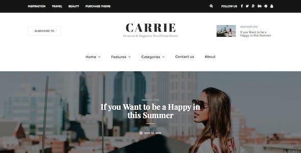 Carrie - Personal & Magazine WordPress Theme