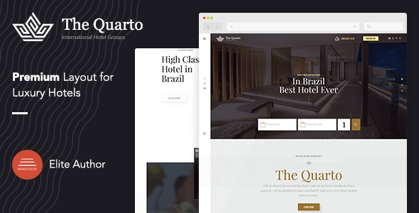 Online Hotel Booking WordPress Theme - The Quarto - Travel Retail