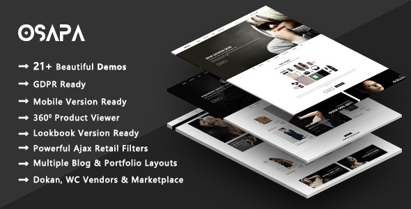 Osapa | Stylish Fashion WooCommerce WordPress Theme - WooCommerce eCommerce