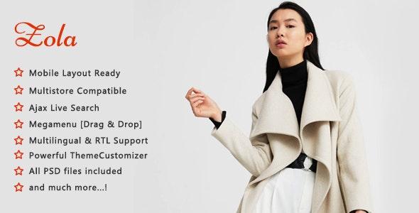 Zola - Minimalist Fashion Shop PrestaShop 1.7 Theme - Fashion PrestaShop
