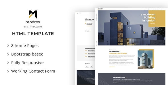 modrox - Architecture And Interior HTML Template - Business Corporate