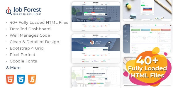Job Forest - Job Board HTML Template - Business Corporate
