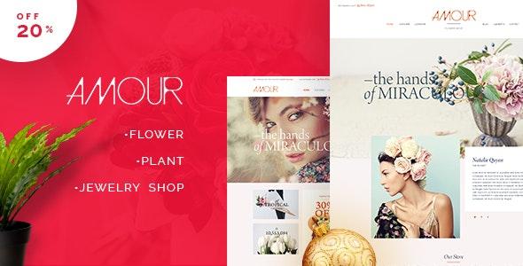 Amour - Shop WordPress theme - Flower - Jewelry - Handmade - Gift - WooCommerce eCommerce