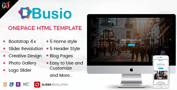 Busio - Multipurpose HTML Template - Portfolio Creative
