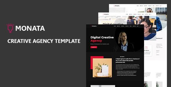 Monata - Creative Agency HTML Template - Creative Site Templates