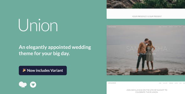 Union - Wedding and Event WordPress Theme for Variant & Visual Composer