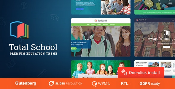 Total School - Primary, Secondary & High School Education WordPress Theme - Education WordPress