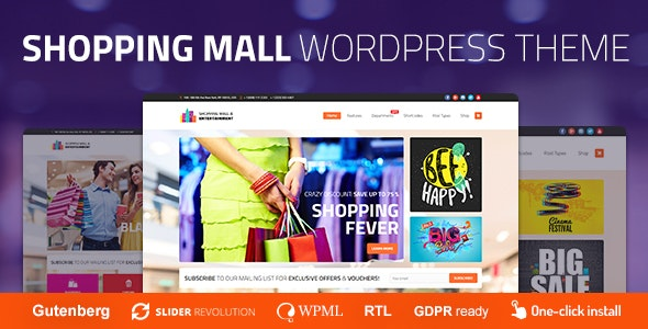 Shopping Mall - Entertainment Center and Business WordPress Theme - Business Corporate