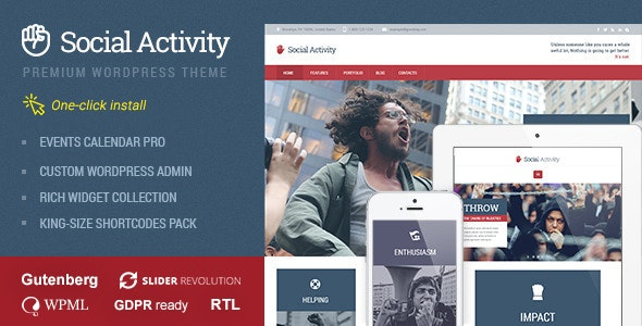 Social Activity - Politics & Activism WP Theme - Activism Nonprofit