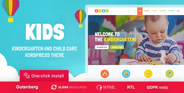 Kids - Day Care & Kindergarten WordPress Theme for Children - Children Retail