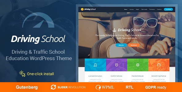 Driving School - Car & Automobile WordPress Theme - Business Corporate