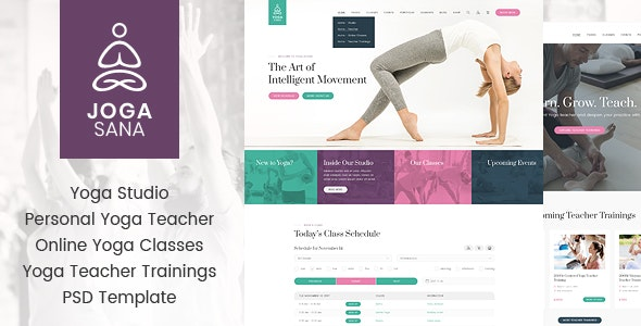 Jogasana - Yoga Oriented PSD Template - Health & Beauty Retail