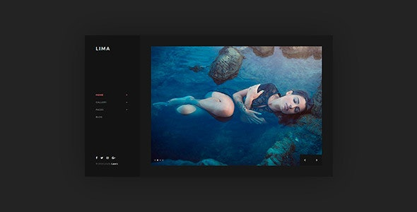 Lima - Night Mode WordPress Theme for Elementor - Photography Creative