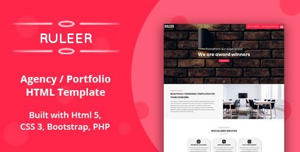 Ruleer - Agency / Portfolio HTML Template