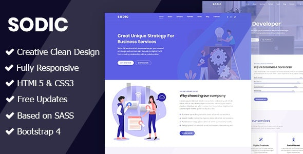 Sodic - Multi-Purpose OnePage Template - Portfolio Creative
