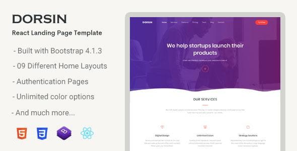 Dorsin - React Landing Page Template - Corporate Site Templates
