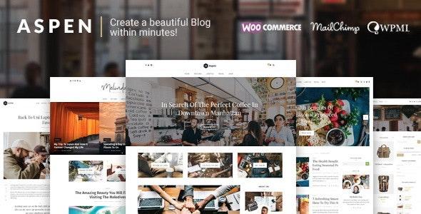 Aspen - WordPress Blog Theme - Blog / Magazine WordPress