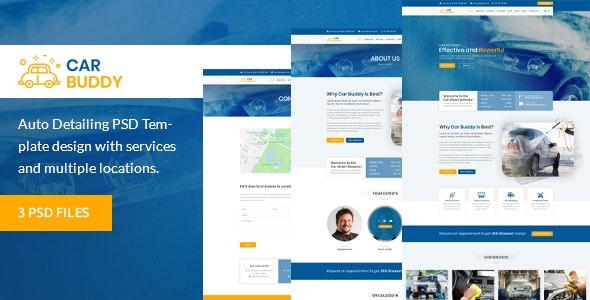 AutoBuddy - Car Wash & Detailing Center PSD Template - Business Corporate