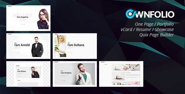 OwnFolio - One Page Personal Portfolio Joomla Template - Portfolio Creative