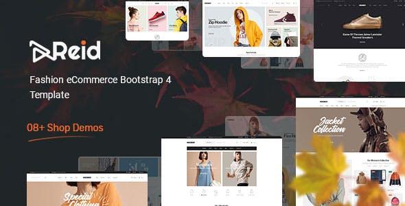 Reid - Elegant Fashion Clothing eCommerce Website Template