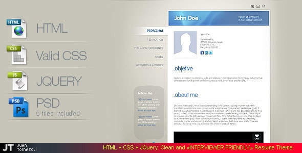 «Interviewer Friendly» RESUME - Resume / CV Specialty Pages