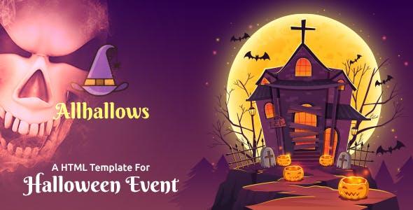 Allhallows - Halloween HTML Template