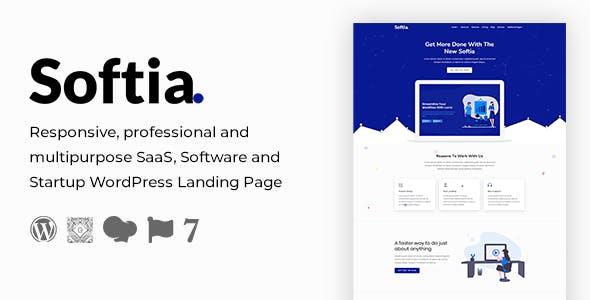 Softia – Multipurpose Technology WordPress Landing Page Theme