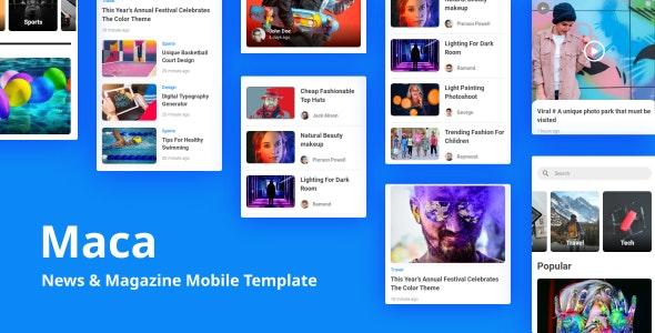 Maca - News & Magazine Mobile Template - Mobile Site Templates