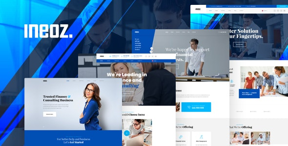 Ineoz - Consulting & Finance Business PSD Template - Business Corporate