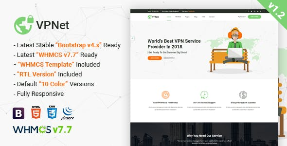 Cloud Services Website Templates from ThemeForest