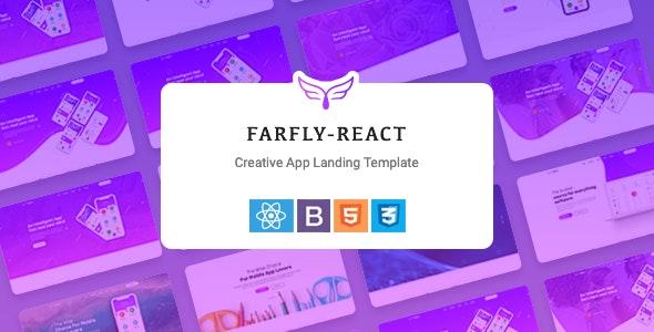 Farfly - Creative App Landing React Template - Site Templates