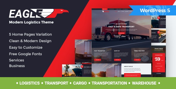 Eagle - Logistics & Transportation WordPress Theme - Business Corporate