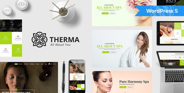 Therma - Spa and Wellness WordPress Theme - Health & Beauty Retail