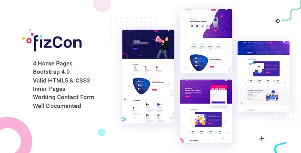 Fizcon – Event, Meeting & Conference HTML5 Template - Events Entertainment