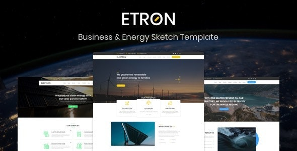Etron - Business & Energy Sketch Template - Sketch Templates