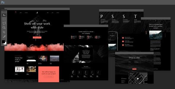 Jupiter PSD Template - Portfolio Creative