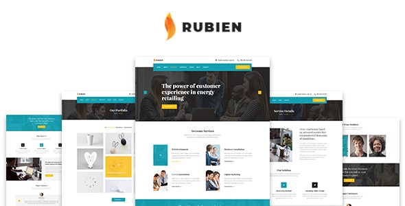 Rubien - Business And Corporate Bootstrap 4 Template - Business Corporate