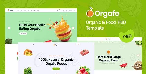 Orgafe - Organic PSD Template - Retail Photoshop