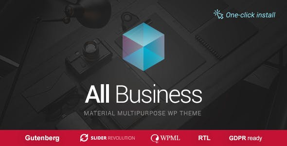 All Business - Corporate & Company Material Design WordPress Theme
