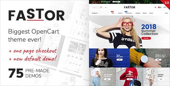 Fastor - Multipurpose Responsive Opencart Theme - OpenCart eCommerce
