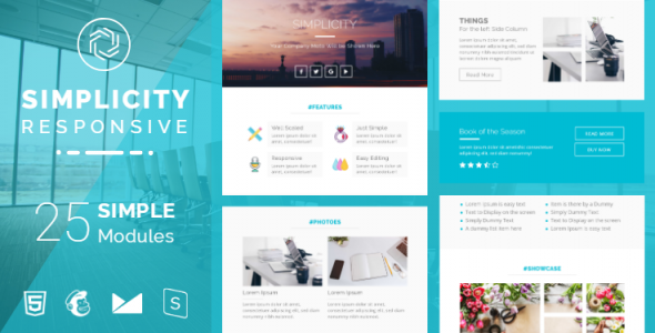 Simplicity Responsive Email Template   Version 2 - Newsletters Email Templates